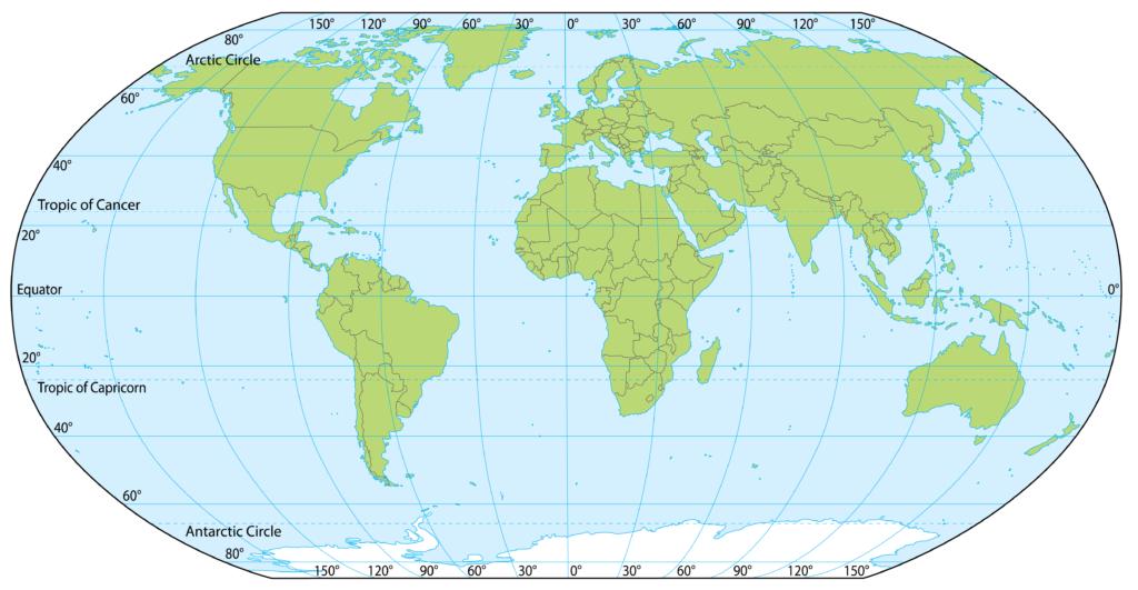 Maailmankartta koordinaatein